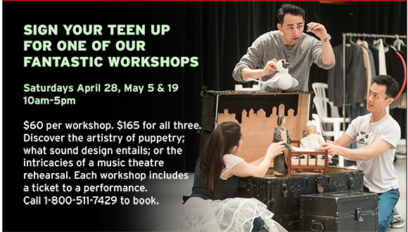 Sign your teen up for one of our fantastic Workshops