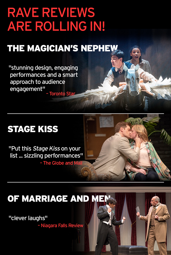 Rave Reviews For The magician's Nephew, Stage kiss and Of marriage and Men